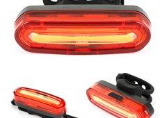 Lanterna Traseira Pisca Usb Sinalizador 6 Modos Luz Bike