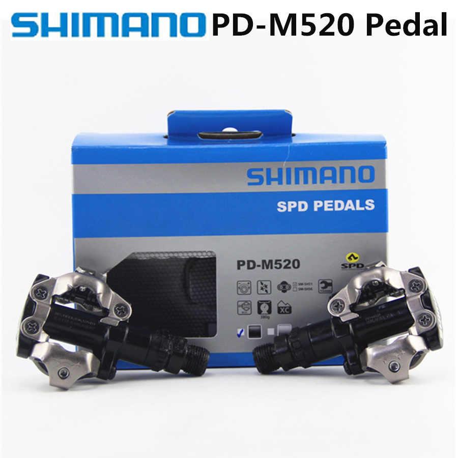 PEDAL SPD SHIMANO PD-M520 PRETO ANTI LAMA