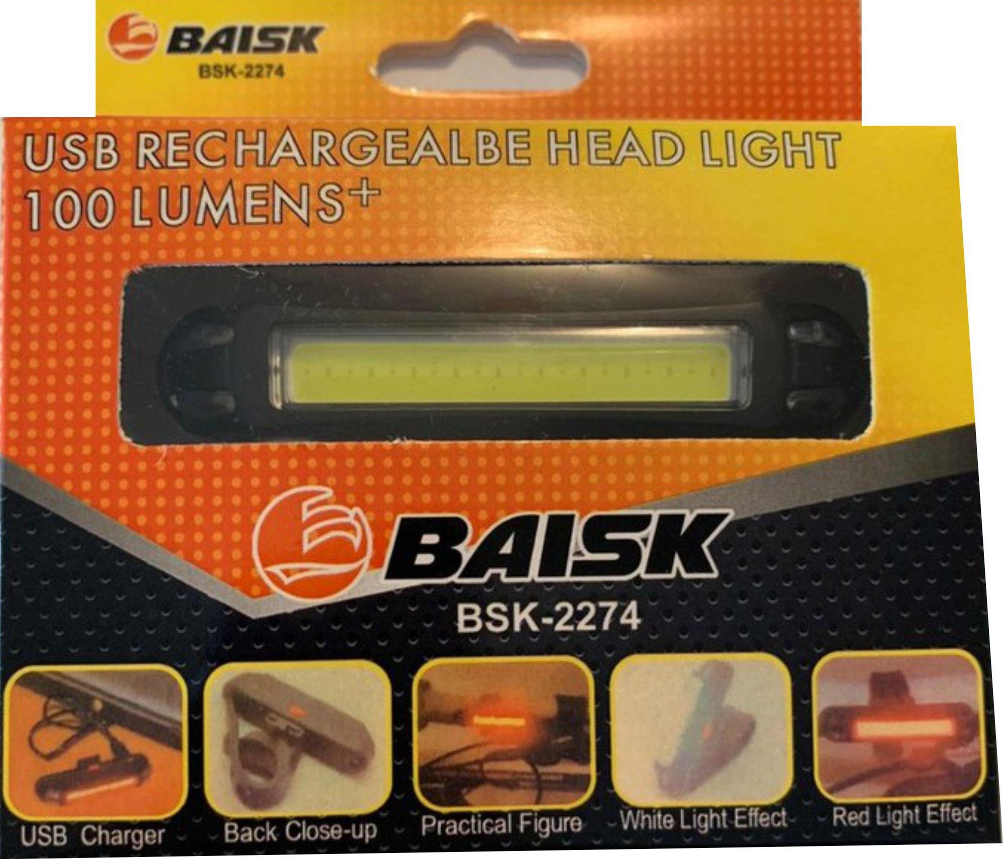 Sinalizador com Led 100 Lumens Recarregável USB -  BAISK BSK-2274