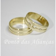 Alianças de Ouro Casamento ou Noivado -  3077