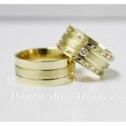 Alianças de Ouro Casamento ou Noivado -  3080