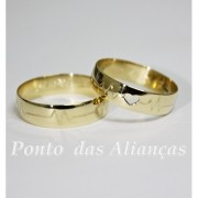 Alianças de Ouro Casamento ou Noivado -  3084