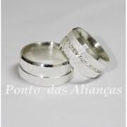 Alianças de Prata Compromisso - 1040