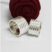 Alianças de Prata Compromisso - 3101