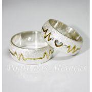 Alianças de Prata Compromisso - Noivado - 3071