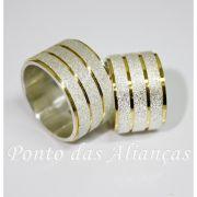 Alianças de Prata Compromisso - Noivado -  3073