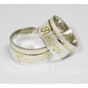 Alianças de Prata Compromisso - Noivado -  3076