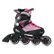 Patins Infantil J-One Girl ABEC 5 Preto/Pink