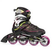 Patins Primo Air Wave Lady 84mm/83A ABEC 7 Preto/Pink