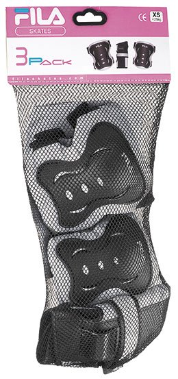 Kit de Proteção Infantil Fitness FP Girl Preto/Cinza