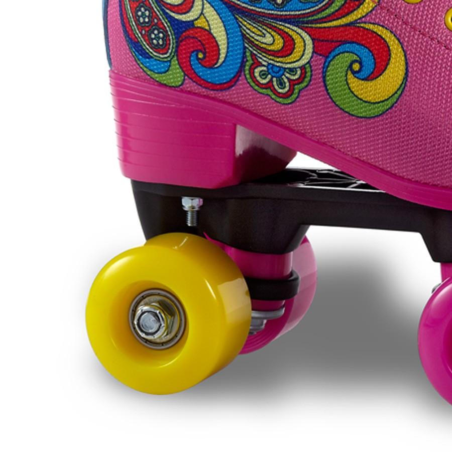 Patins Infantil Quad Bella Pink Abec 5