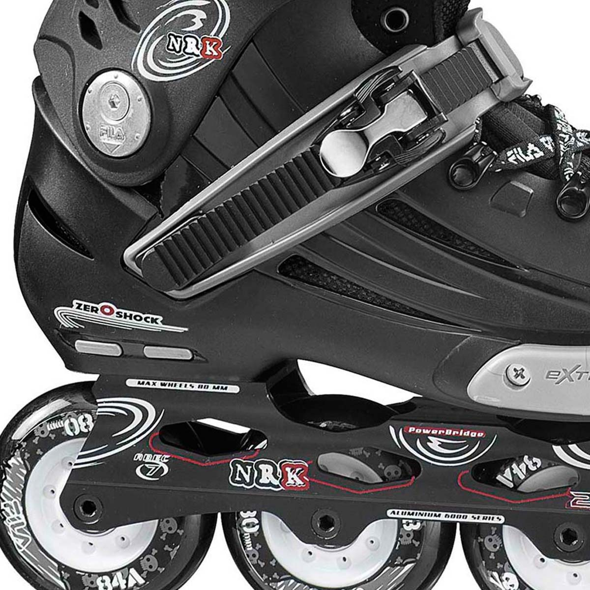 Patins NRK Black 80mm/84A ABEC 7
