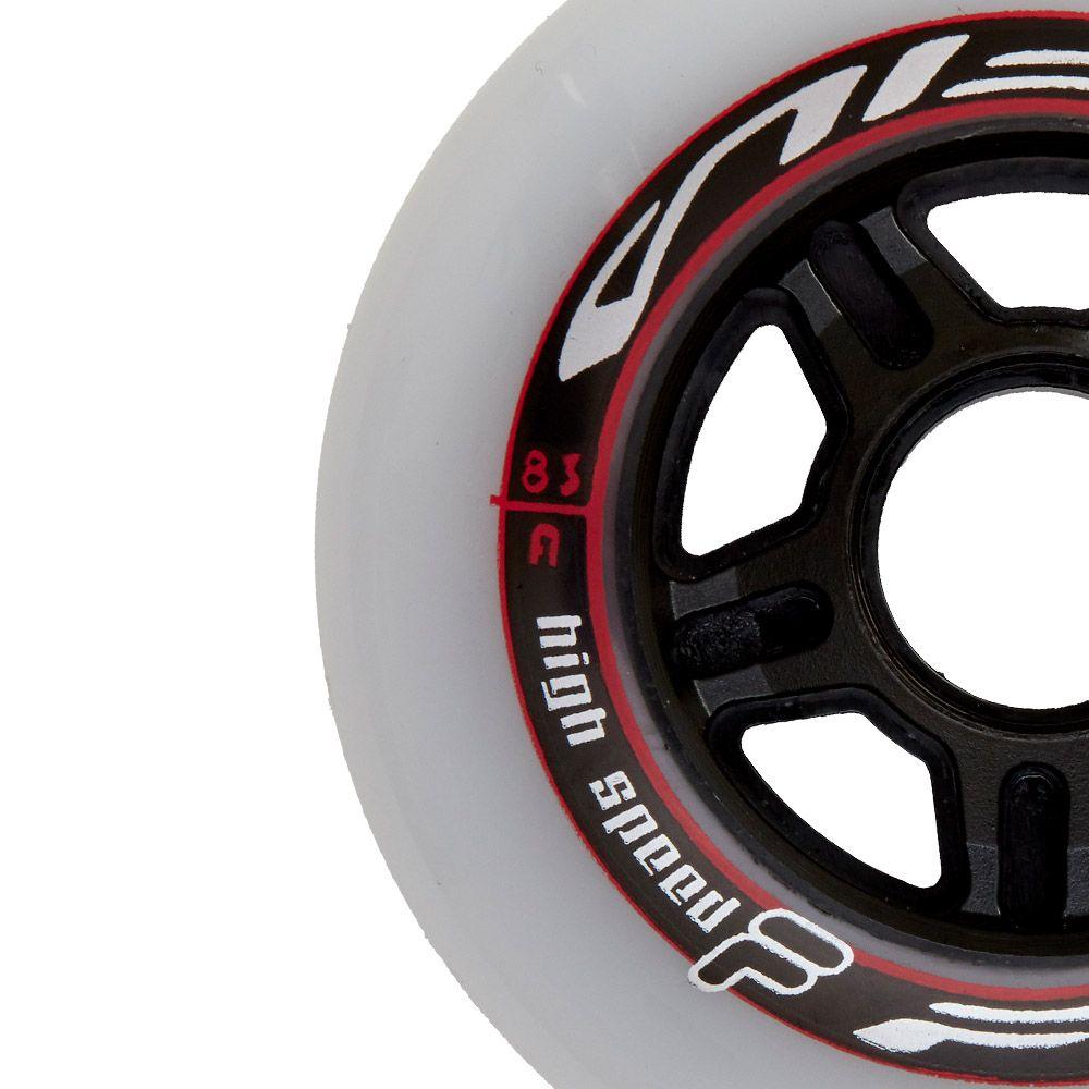 Kit de Rodas Fila WHITE/RED 6X90MM (6un)