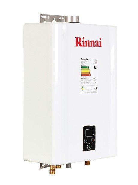 Aquecedor Rinnai E17 Digital - Vazão 17 Litros - Branco - Gás GN