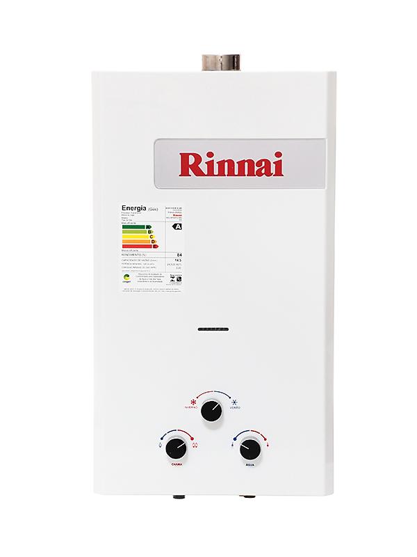 Aquecedor Rinnai REU 158 BR FE - Vazão 14,5 Litros - Exaustão Forçada - Gás GN