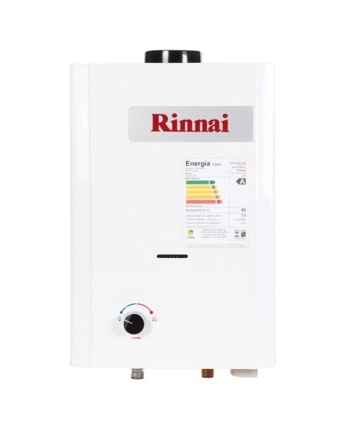 Aquecedor Rinnai M07-BP Vazão 7,5 Litros - Baixa Pressão - Gás GN