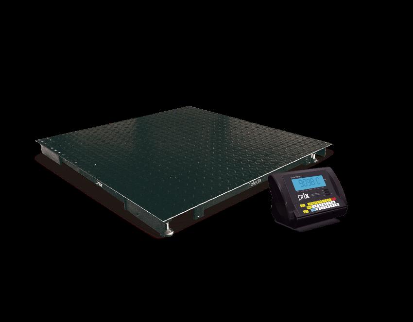 Balança eletrônica de piso pesadora, contadora e comprovadora modelo 2198 C - 2500 kg plataforma 1,50 m x 1,50 m da marca Toledo