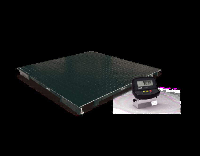 Balança eletrônica de piso pesadoras modelo 2198 - 1000 kg - plataforma 1,50 m x 1,50 m da marca Toledo