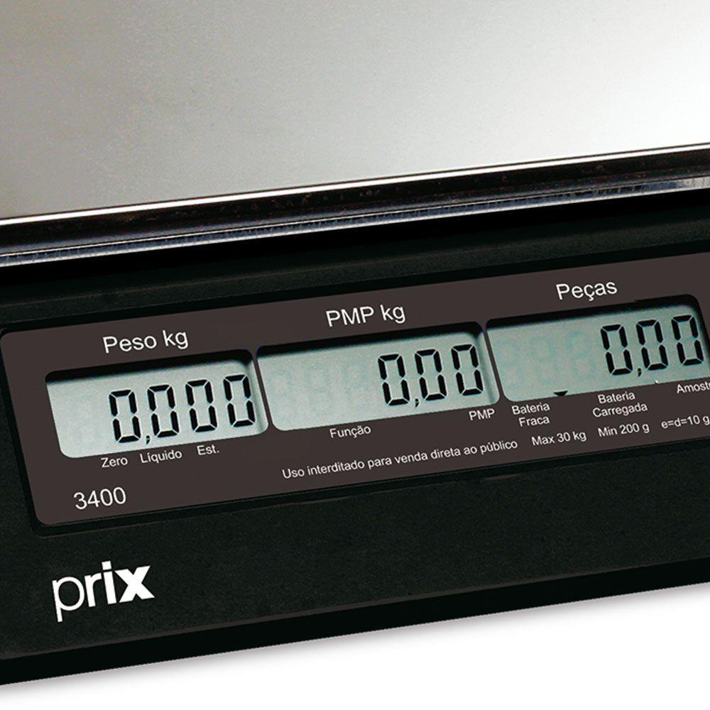 Balança Eletrônica Pesadora e Contadora modelo 3400 - 30 kg da marca Toledo