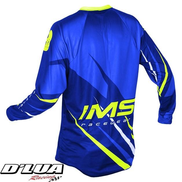 Camisa IMS ACTION AZUL E VERDE FLUORESCENTE 2016
