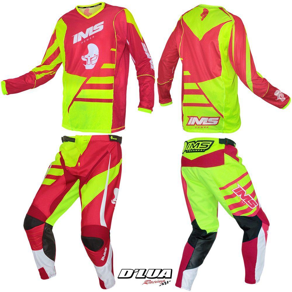 Roupa para trilhas e motocross - calça e camisa  IMS POWER