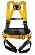 """Cinto de Segurança tipo Paraquedista/Abdominal - Acolchoado na lombar - 3 Argola em """"D"""" de Aço CA 36376"""