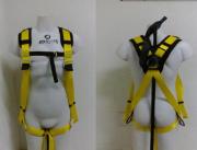 """Cinto Paraquedista - Acolchoado Espaldar nos Ombros - 1 Argola em """"D"""" de Aço"""