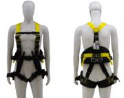 """Cinto Paraquedista com Ferragem em Inox - Acolchoado na Lombar e pernas - 3 Argolas em """"D"""" de Aço"""