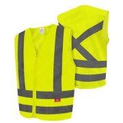 Colete Refletivo de Alta Visibilidade Tipo Blusão - Amarelo Fluorescente