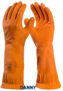 Luva de Segurança de Látex Max Orange Longa  - CA 38347