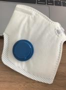 Respirador Purificador de Ar Tipo Peça Semifacial Filtrante para Partículas PFF2 CA 43742 Com Válvula
