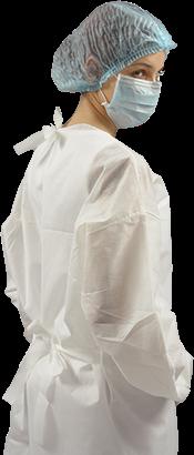 Avental Descartável para Procedimento em TNT Branco 1,00 x 0,70 cm - Pacote com 10 unidades