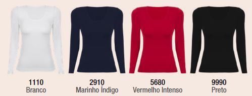 Blusa Decote Redondo Sem Costura 45184-001