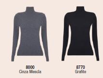 Blusa Gola Alta Texturizado a Ar Sem Costura 45201-001