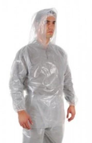 Capa de Chuva Transparente em Polietileno Tipo Bata CA 30354