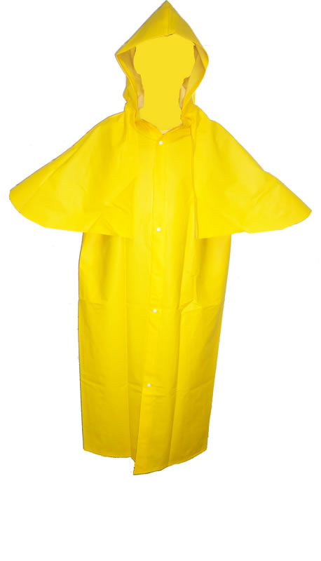 Capa para Chuva PVC Forrado Manga ou Morcego com Capuz CA5864