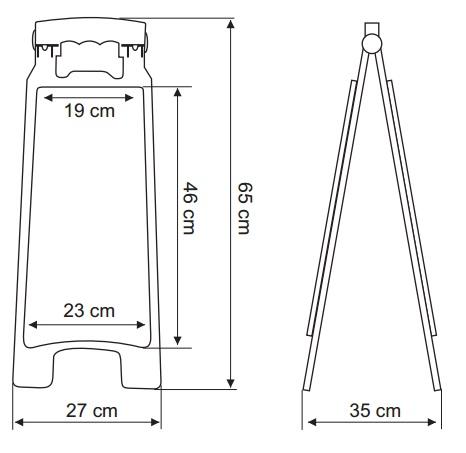 Cavalete de Sinalização Médio 65x27cm