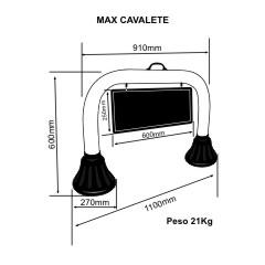 Cavalete com Placa Personalizada Linha Max