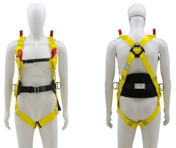 """Cinto Paraquedista Espaço Confinado - Acolchoado na lombar - 3 Argolas em """"D"""" de Aço"""