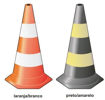 Cone de Sinalização em Polietileno Zebrado 75 cm - EPI Sul do Brasil ... 978487de9b