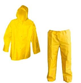 Conjunto de PVC com Capuz Impermeável - CA 37537 Blusa - CA 37536 Calça