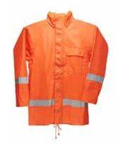 Conjunto de PVC Impermeável com Refletivo e Capuz - CA 34357 Blusa - CA 33793 Calça