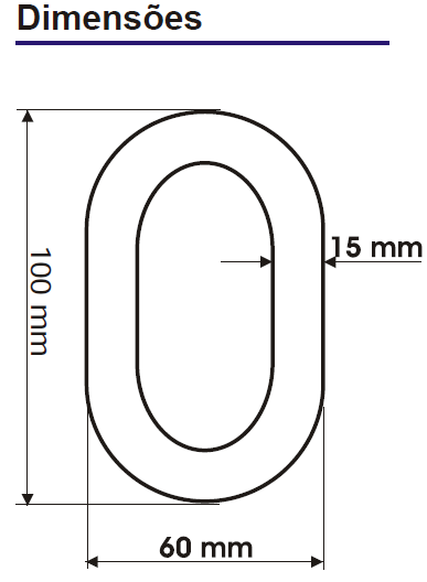 Corrente Calha em polietileno  - 50 metros