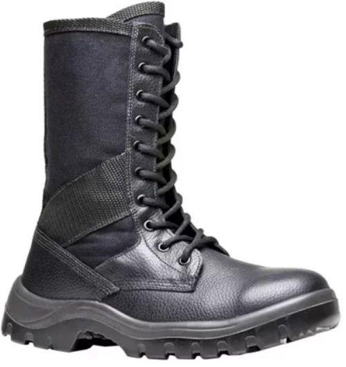 Coturno Militar em Couro e Lona BCL CA 27564