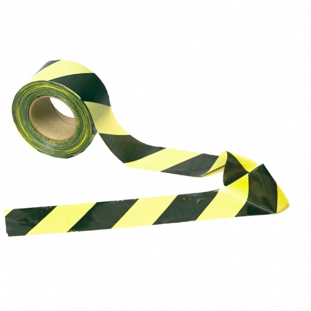 Fita Zebrada para Isolamento de Áreas - Preta/Amarela (70mm x 200m)