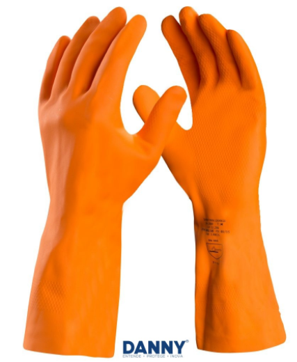 Luva de Segurança em Látex Max Orange - CA 11286