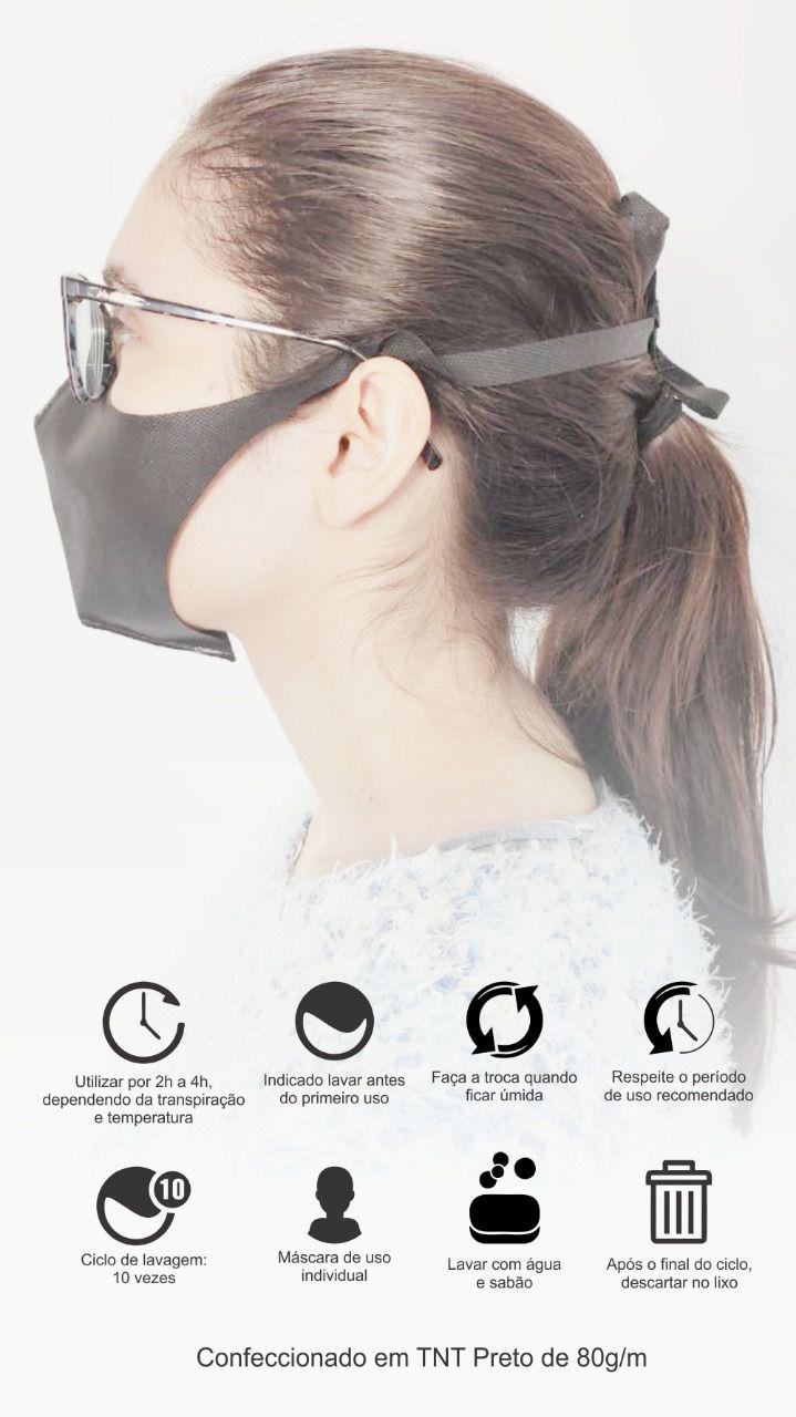Máscara de Proteção em TNT Gramatura 80 - Pcote 20 un