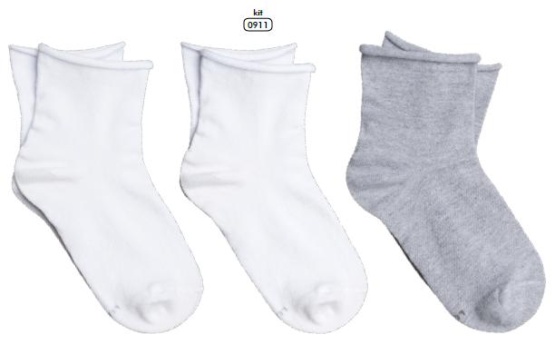 Meia Socks Feminina Sem Punho KIT 3 Pares 04421-089