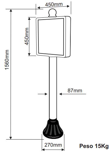 Pedestal - Placa Personalizada - 15 kg