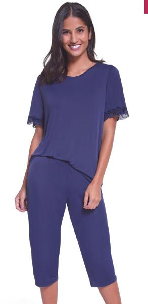 Pijama Feminino Capri com Renda 24297-001